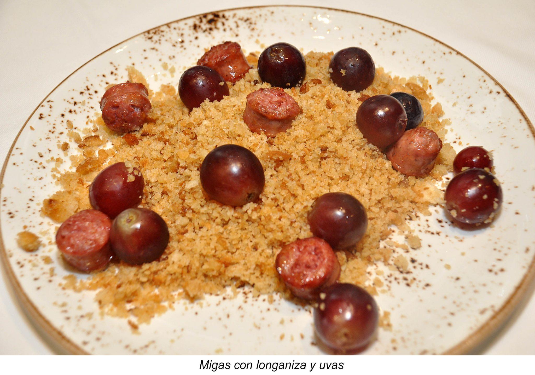 06. Migas con longaniza y uvas
