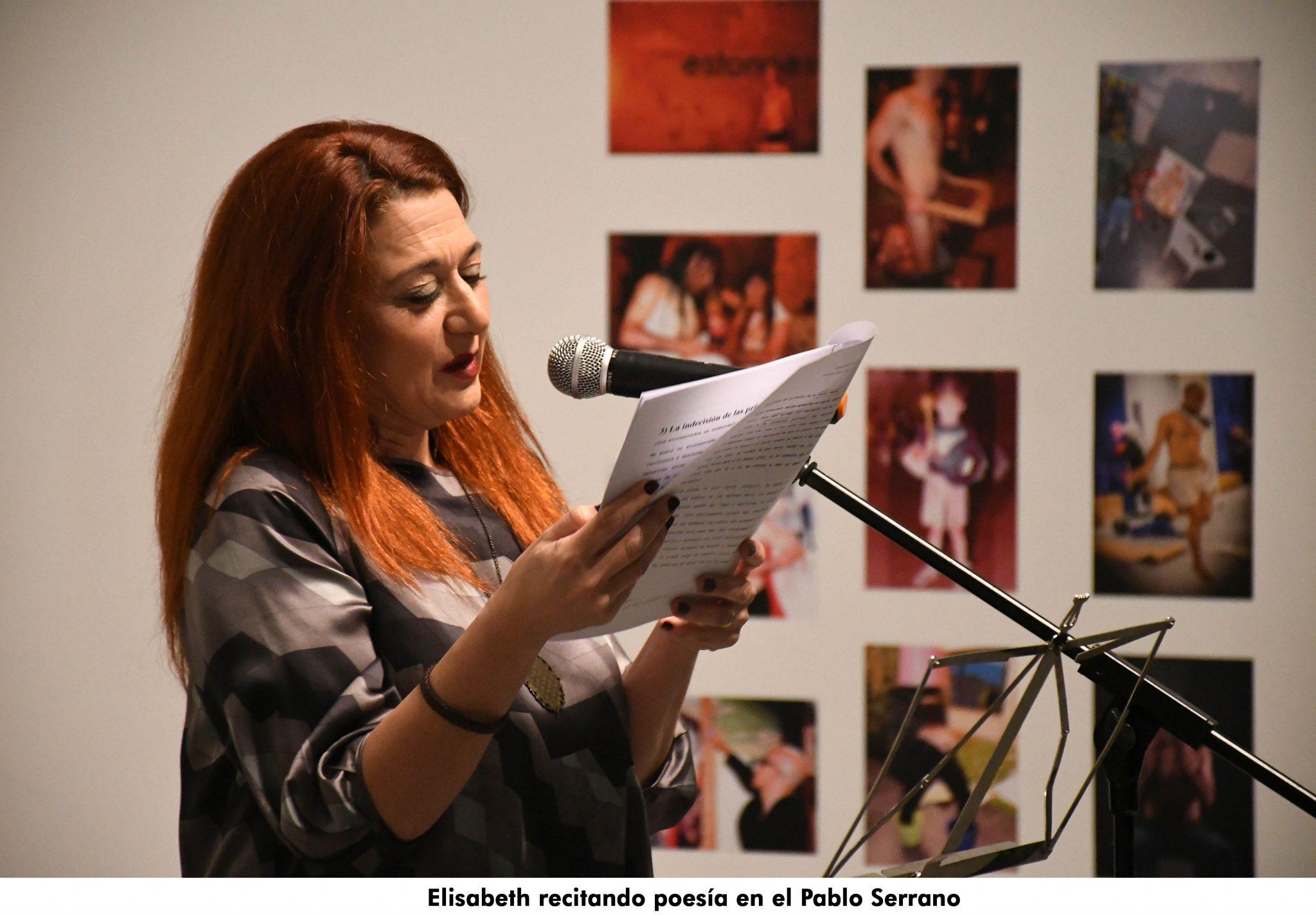 13. Elisabeth Iborra recitando poesia