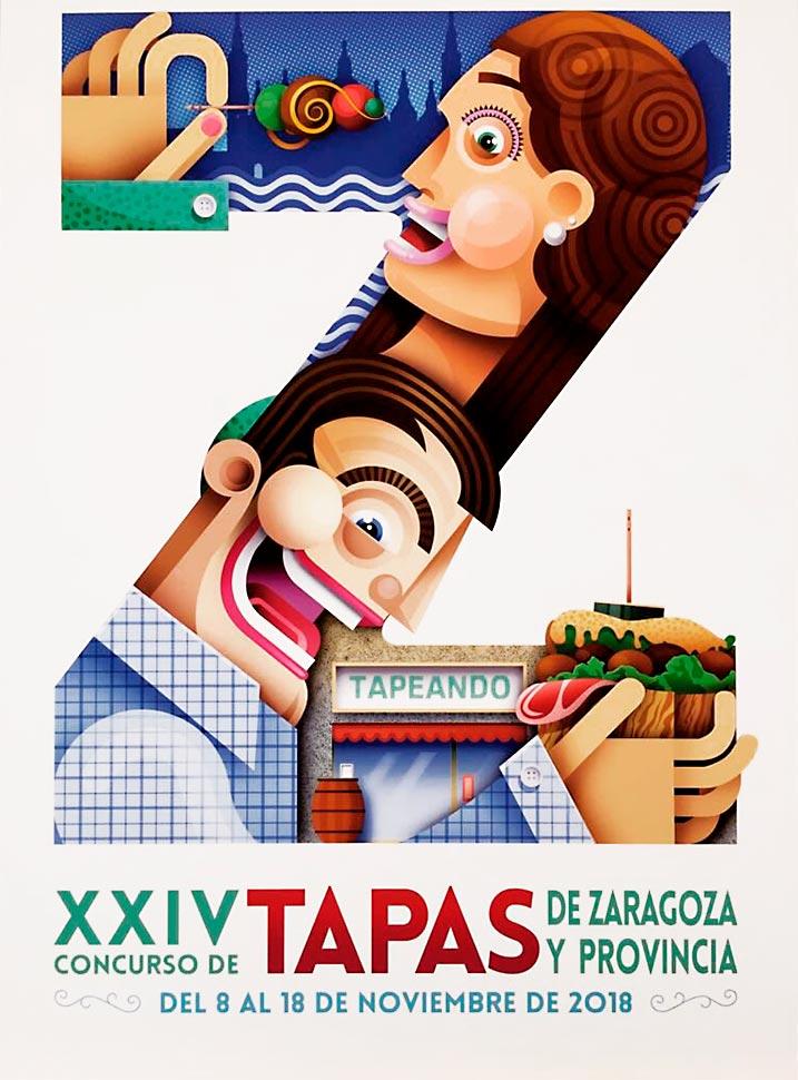 cartel-xxiv-concurso-de-tapas-zaragoza