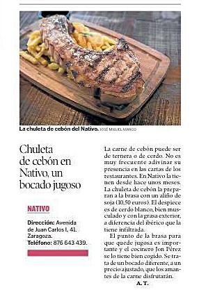 18. chuleta de cebon en nativo HERALDO