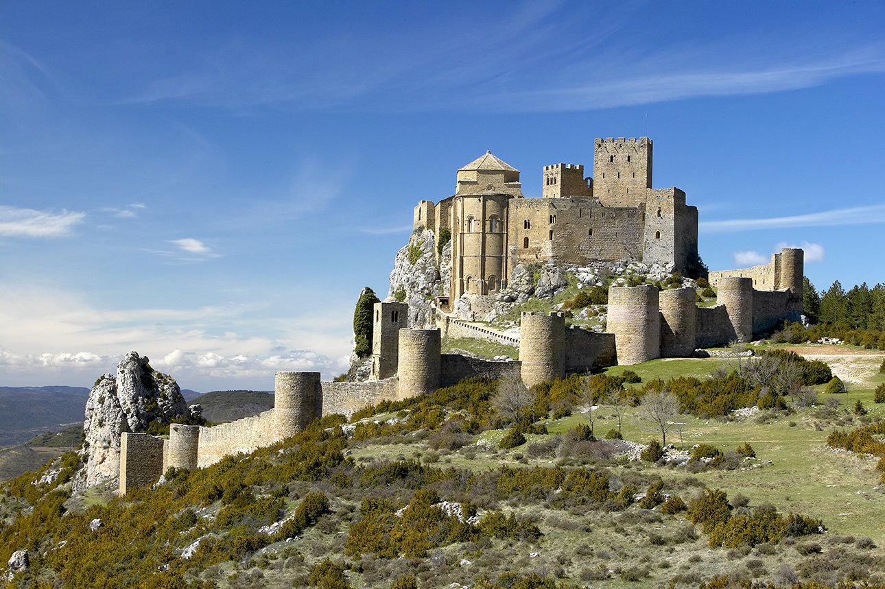 Castillo de Loarre, panorámica. Javier Romeo©. 24 03 2004.