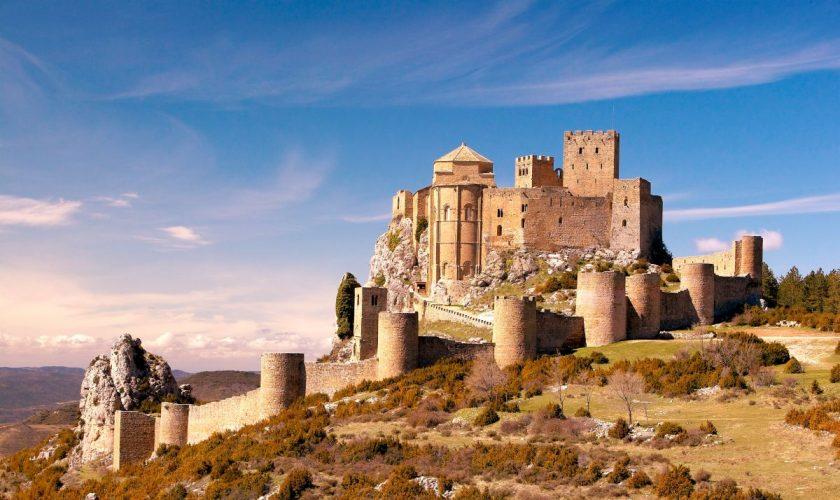 Castillo de Loarre, panorámica.Javier Romeo©. 24 03 2004.