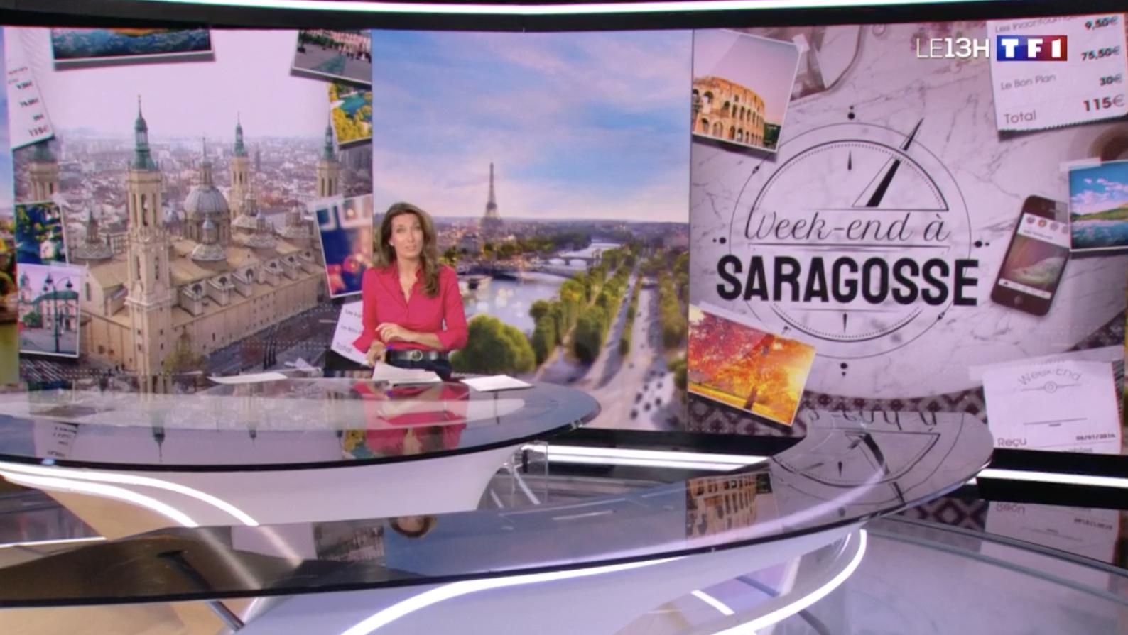 Zaragoza en la televisión francesa