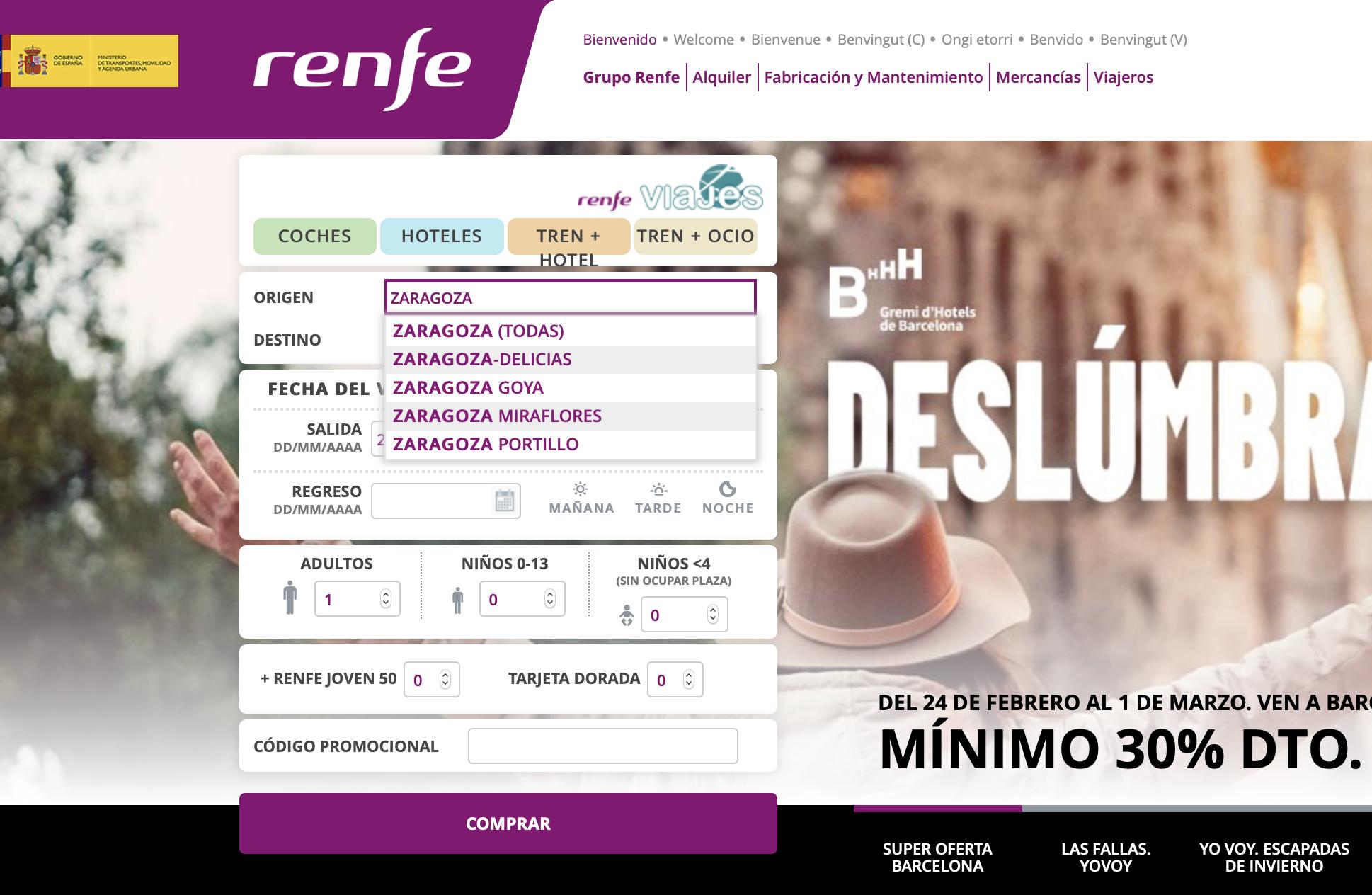 nueva web Renfe