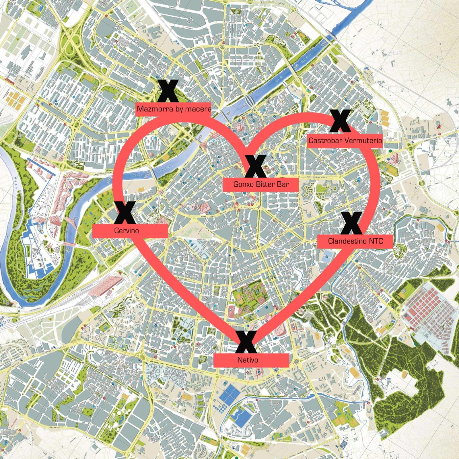 ruta zaragoza san Valentin