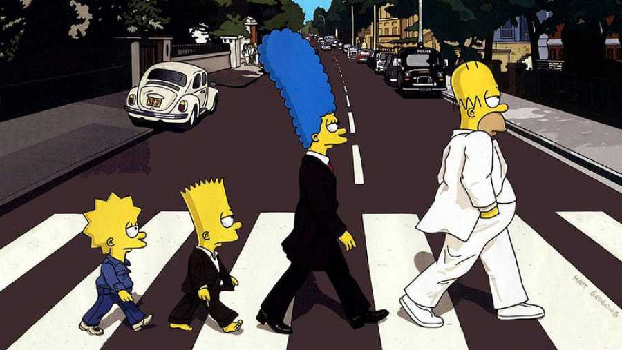 simpsons paso de peatones