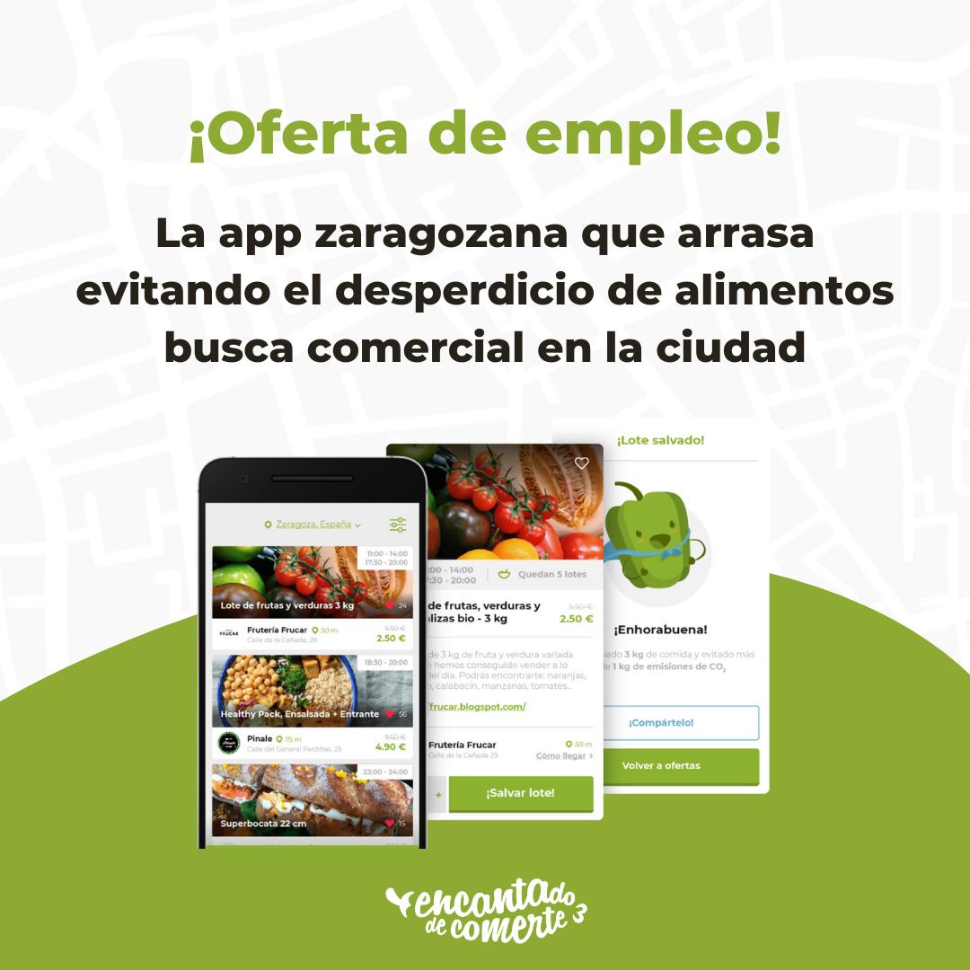 La app zaragozana que arrasa evitando el desperdicio de alimentos busca comercial en la ciudad