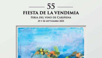 Cartel de la 55 Fiesta de la Vendimia de la DOP Cariñena, obra de Pepe Cerdá